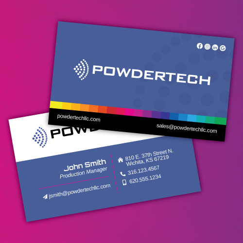 PowderTech Business Cards